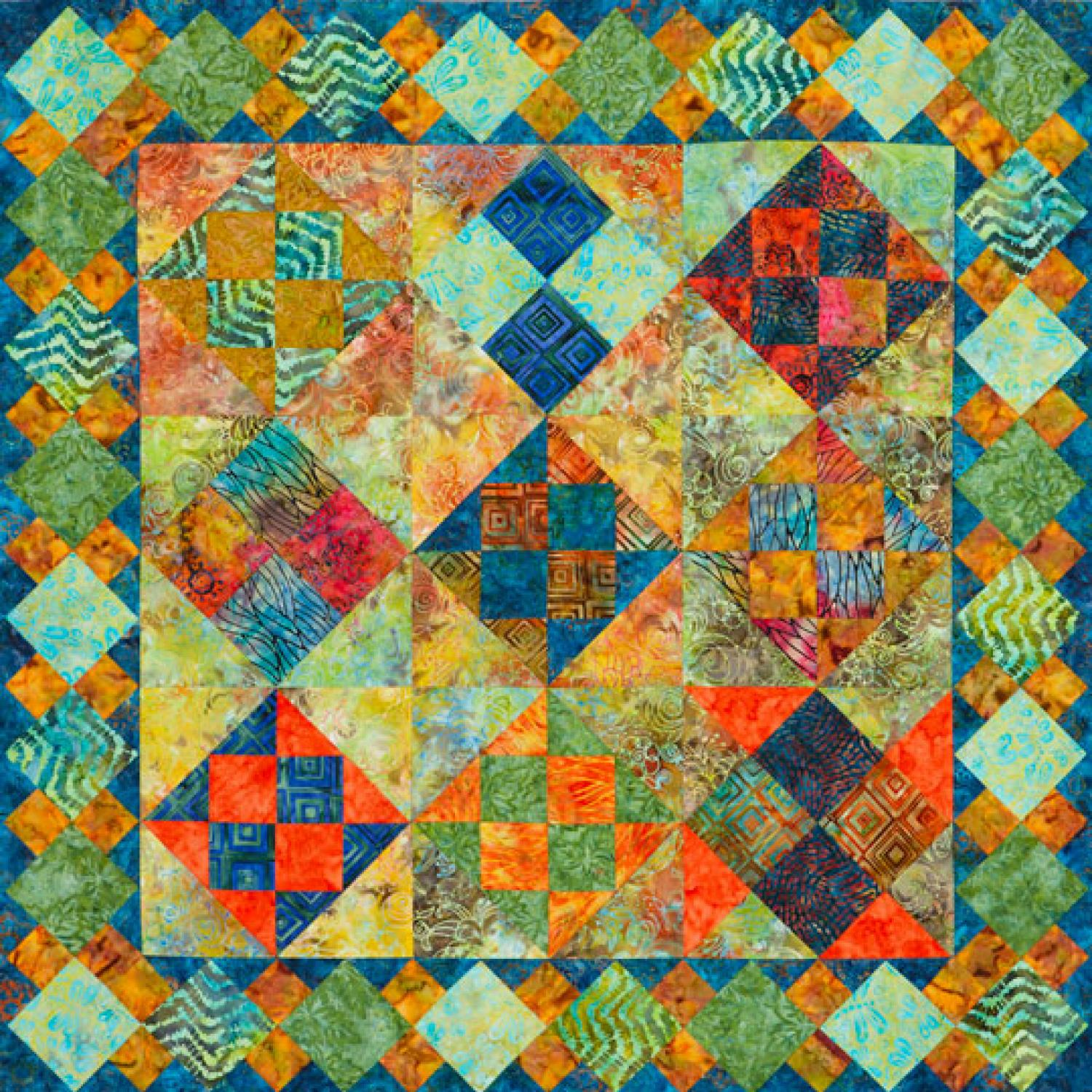 Tropical Patches Wall Quilt AllPeopleQuiltcom