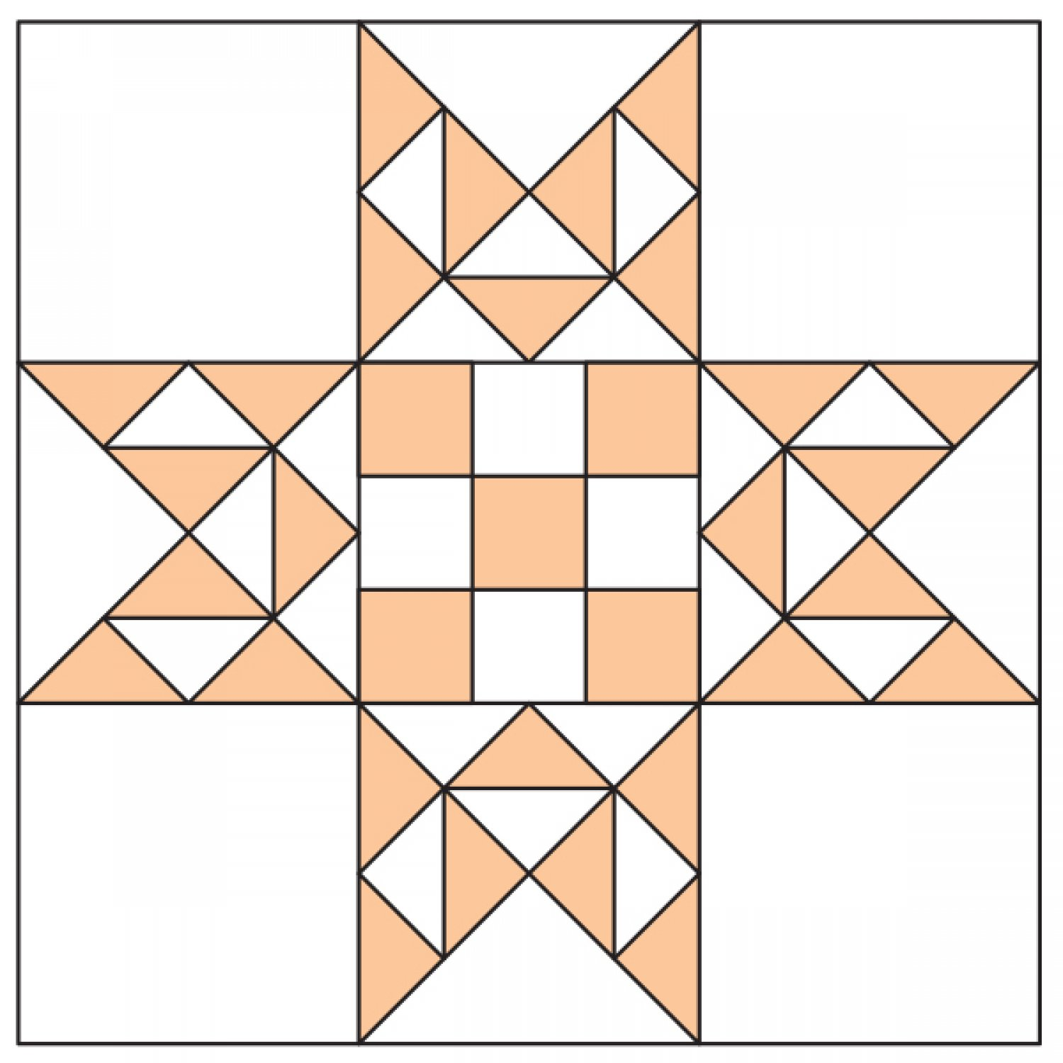 Quilt Block Patterns In Public Domain : Dolly Madison s Star Quilt Block AllPeopleQuilt.com