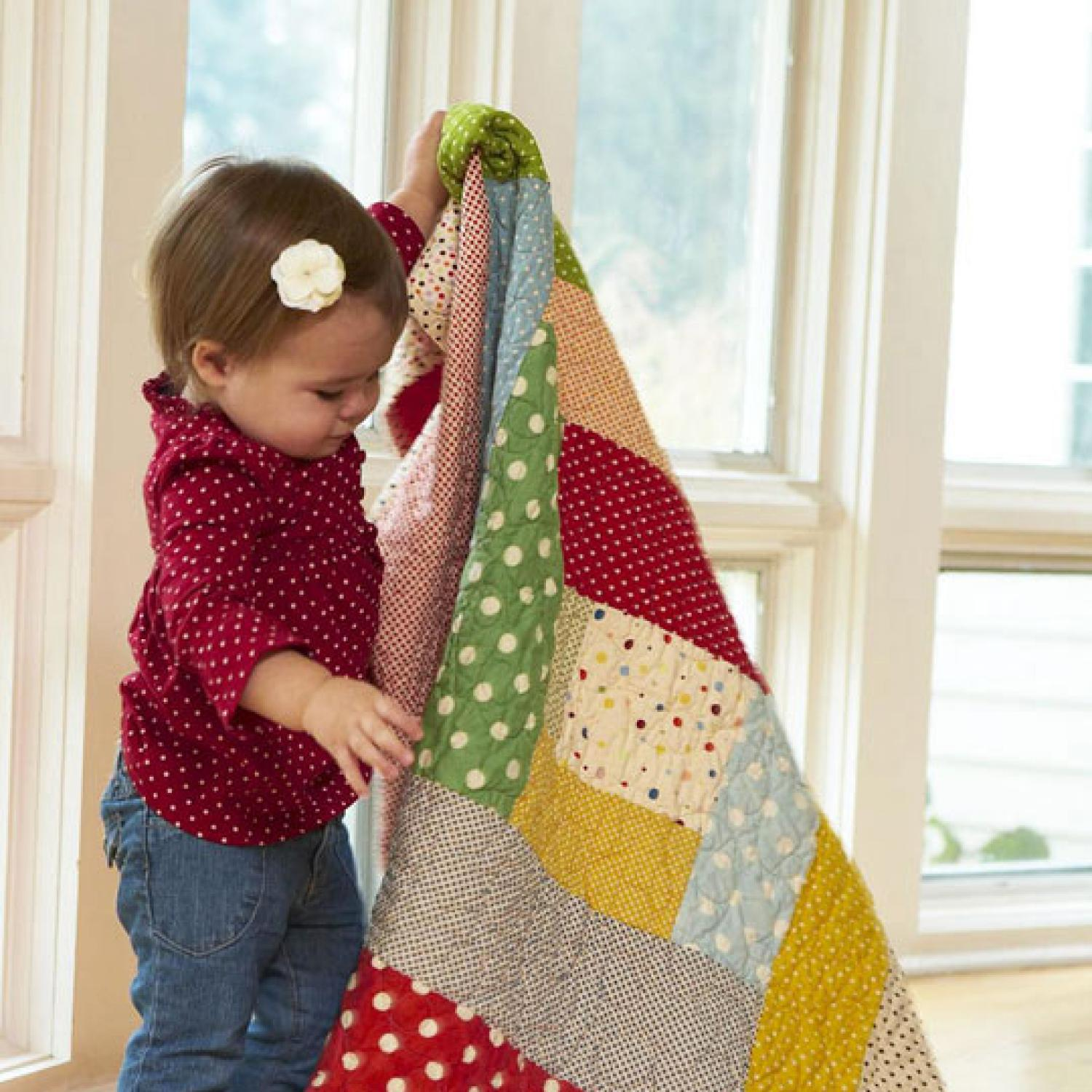 Baby Block Quilt Patterns Magnificent Decorating Design