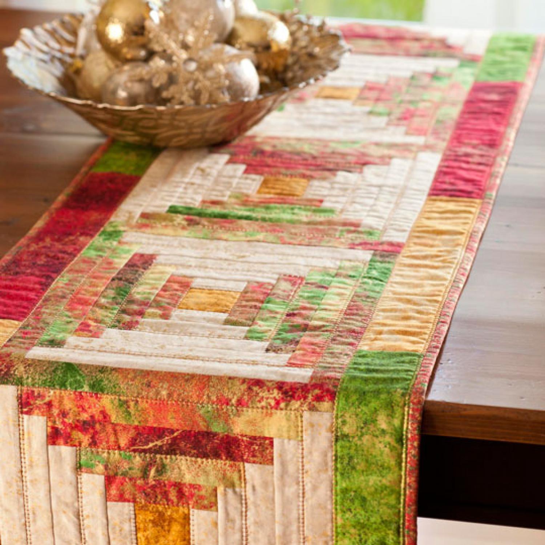 Christmas Cabin Table Runner Allpeoplequilt Com