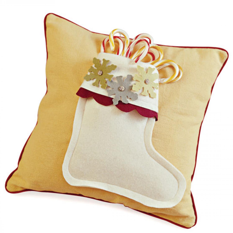 Comfort and Joy Stocking Pillows | AllPeopleQuilt.com