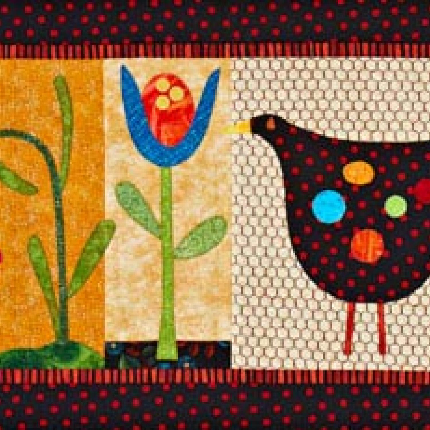 Hen and Flowers Wall Hanging | AllPeopleQuilt.com