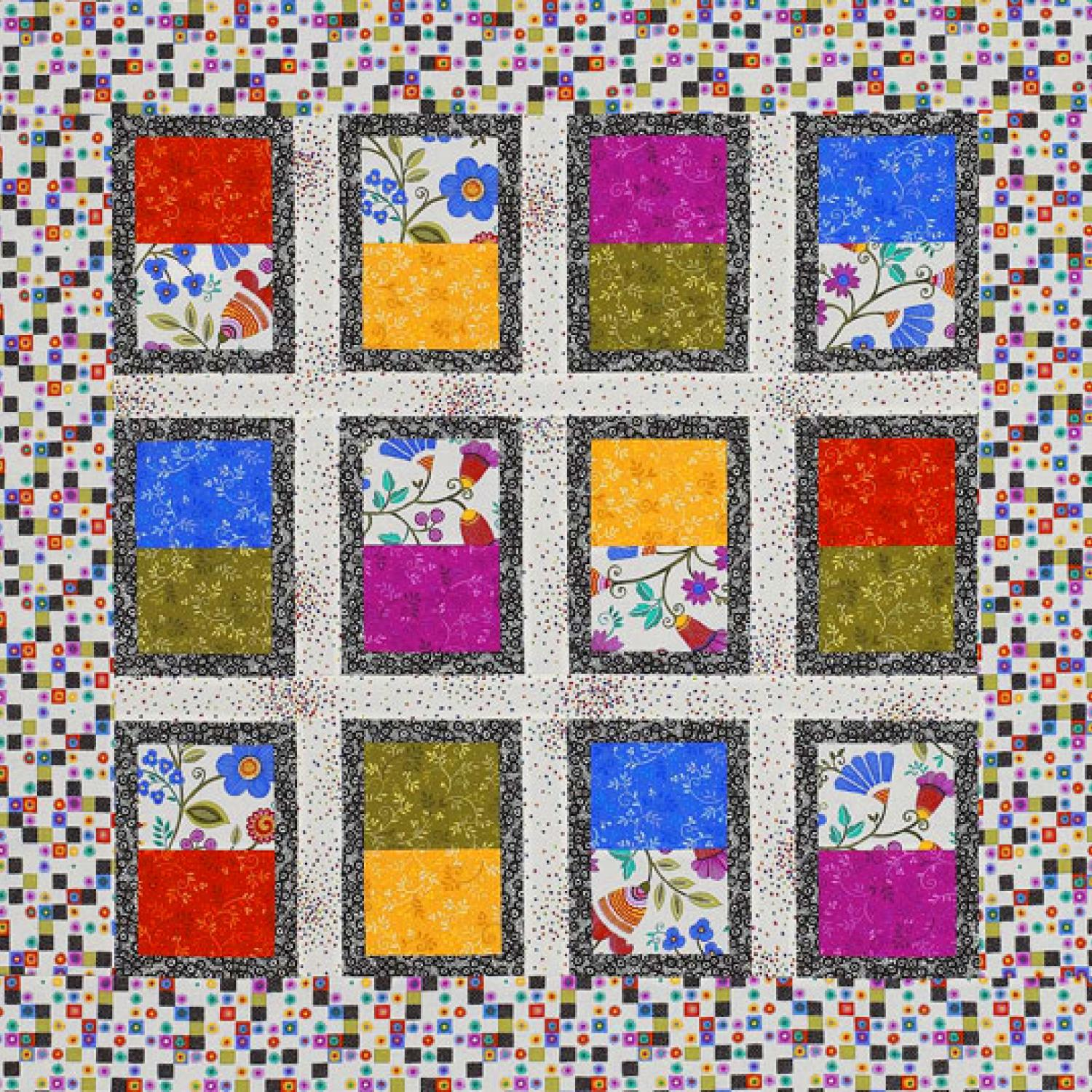 Bright Rectangles Wall Hanging Allpeoplequilt Com