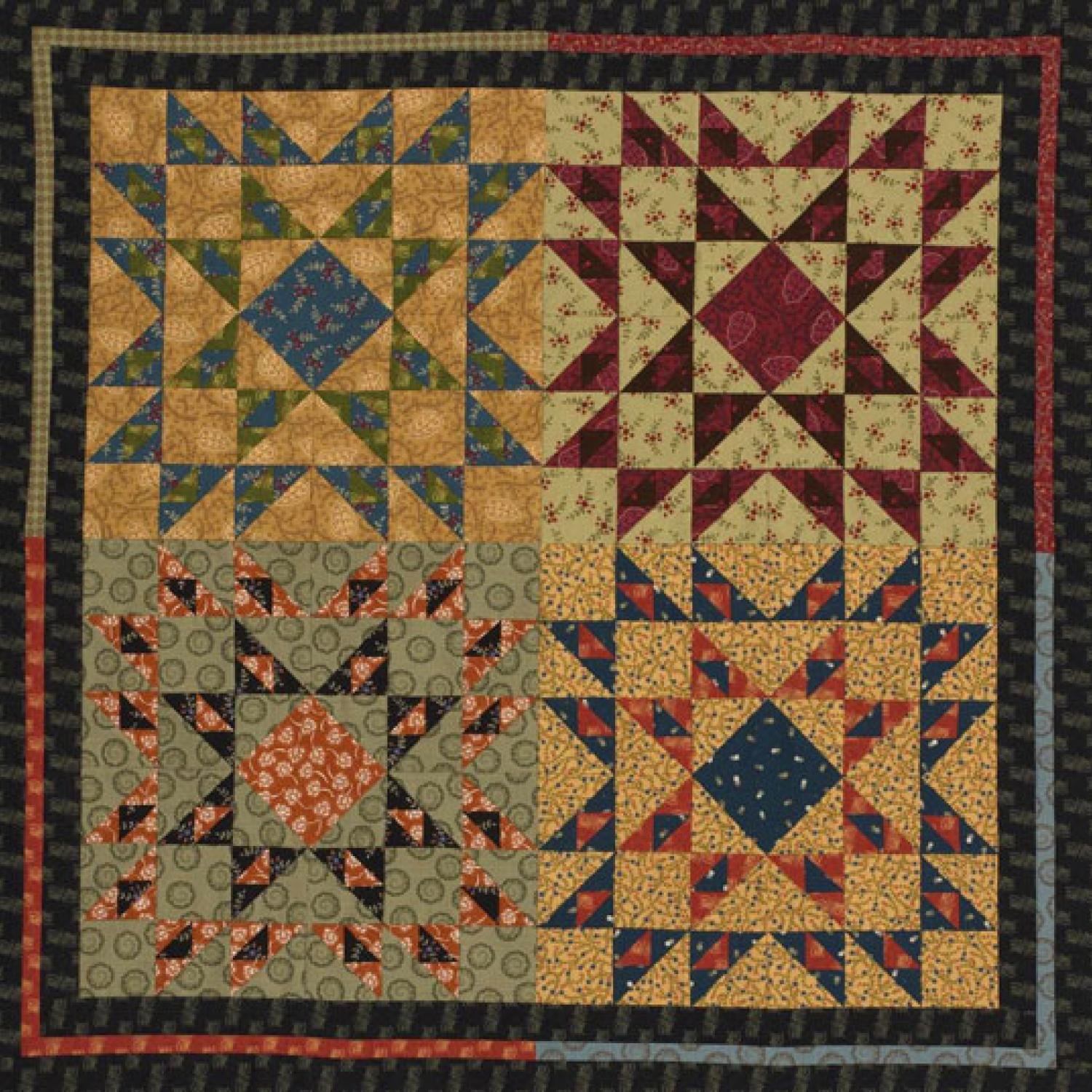 Four Corners Wall Hanging Allpeoplequilt Com