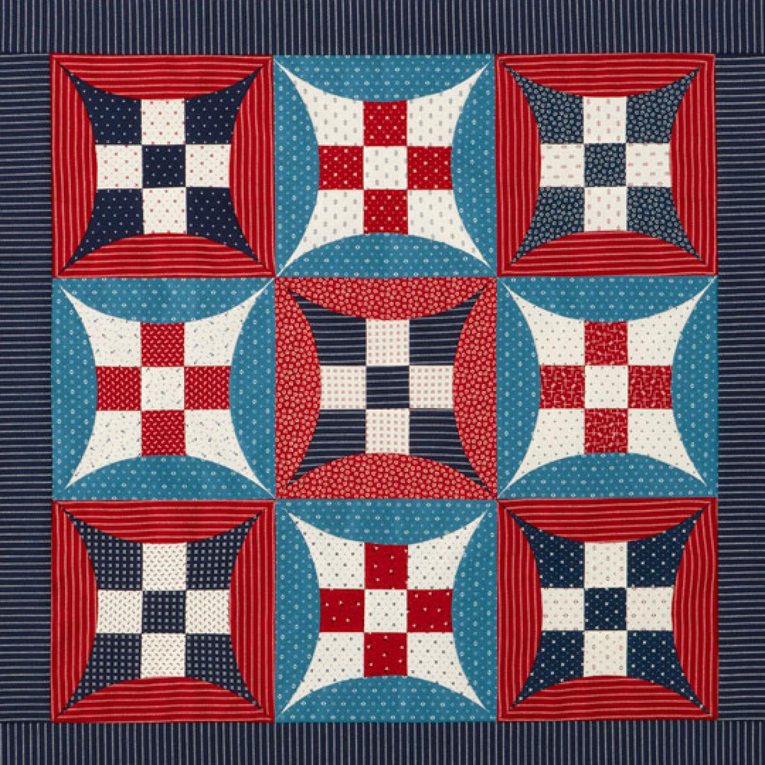 Glorified Nine Patch Wall Hanging Allpeoplequilt