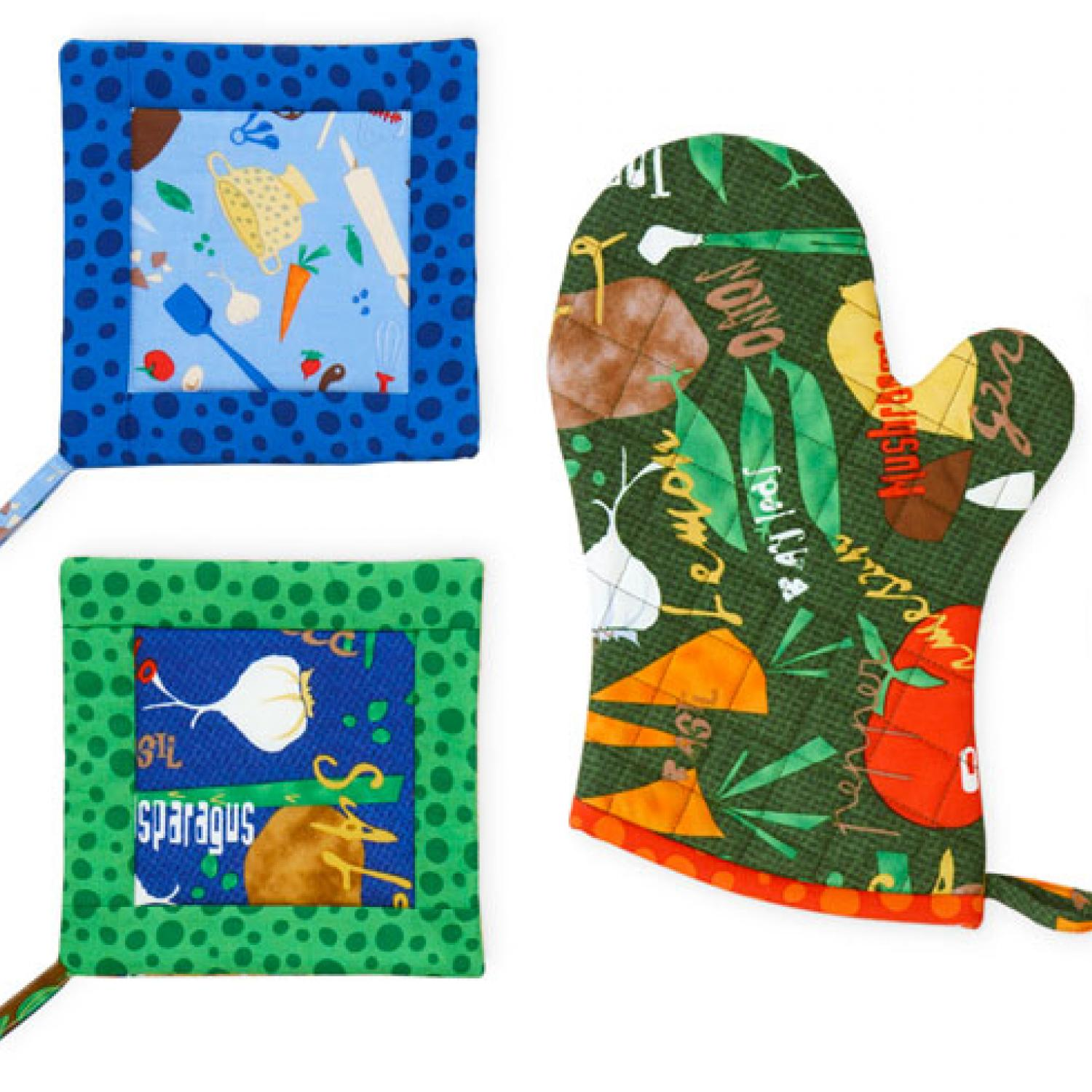 Sew Easy Pot Holder And Oven Mitt Allpeoplequilt Com