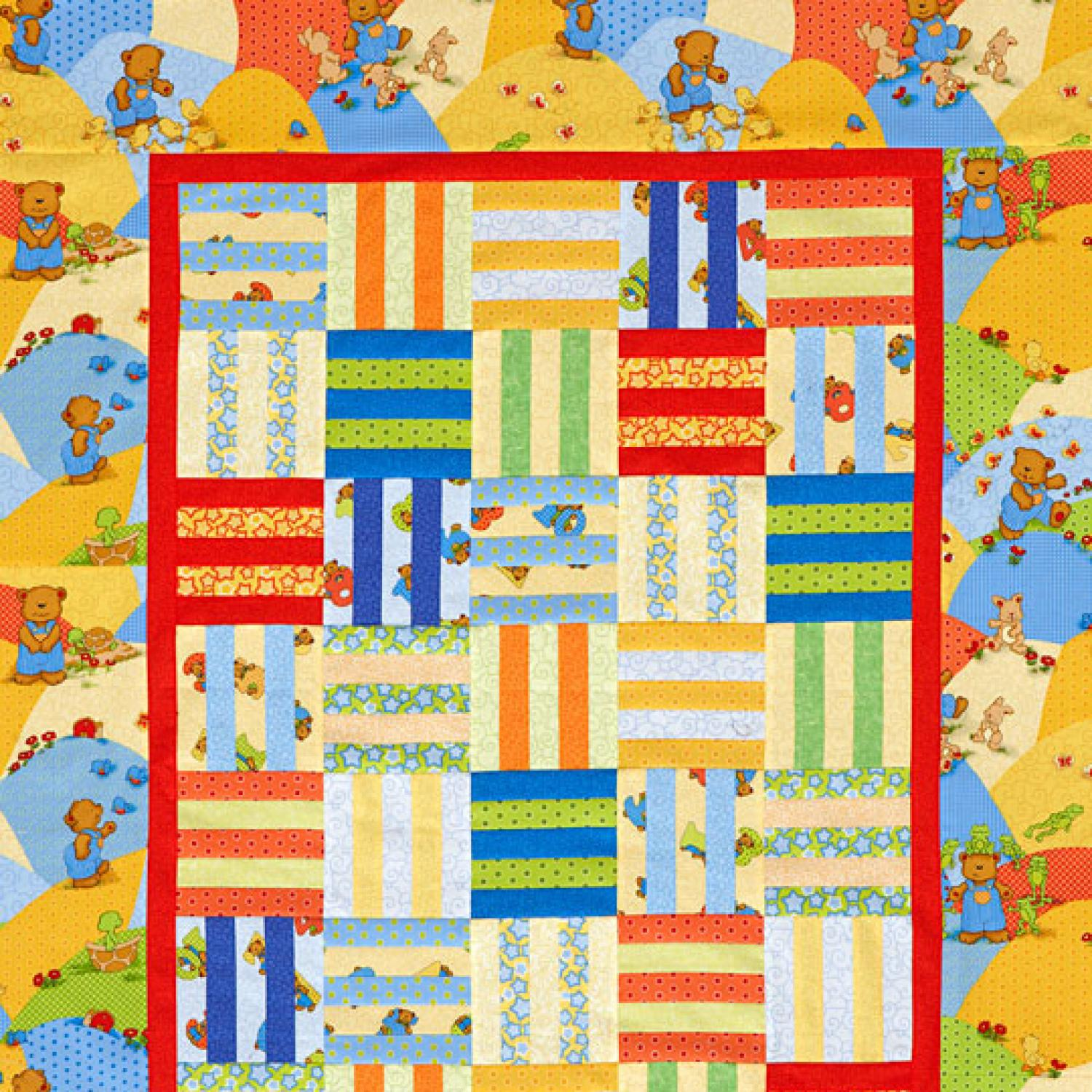 Rail Fence Baby Quilt Allpeoplequilt