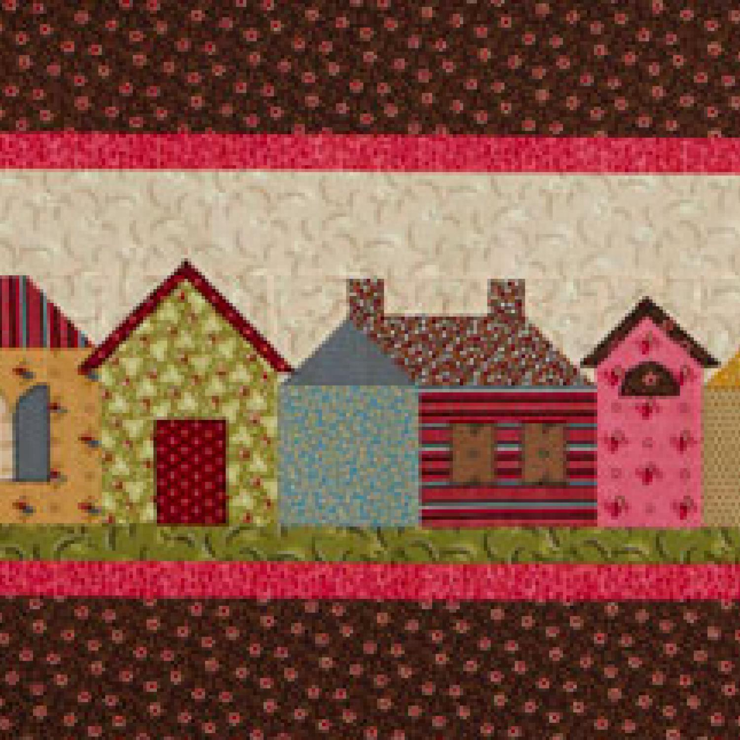 Row houses wall quilt for House pattern