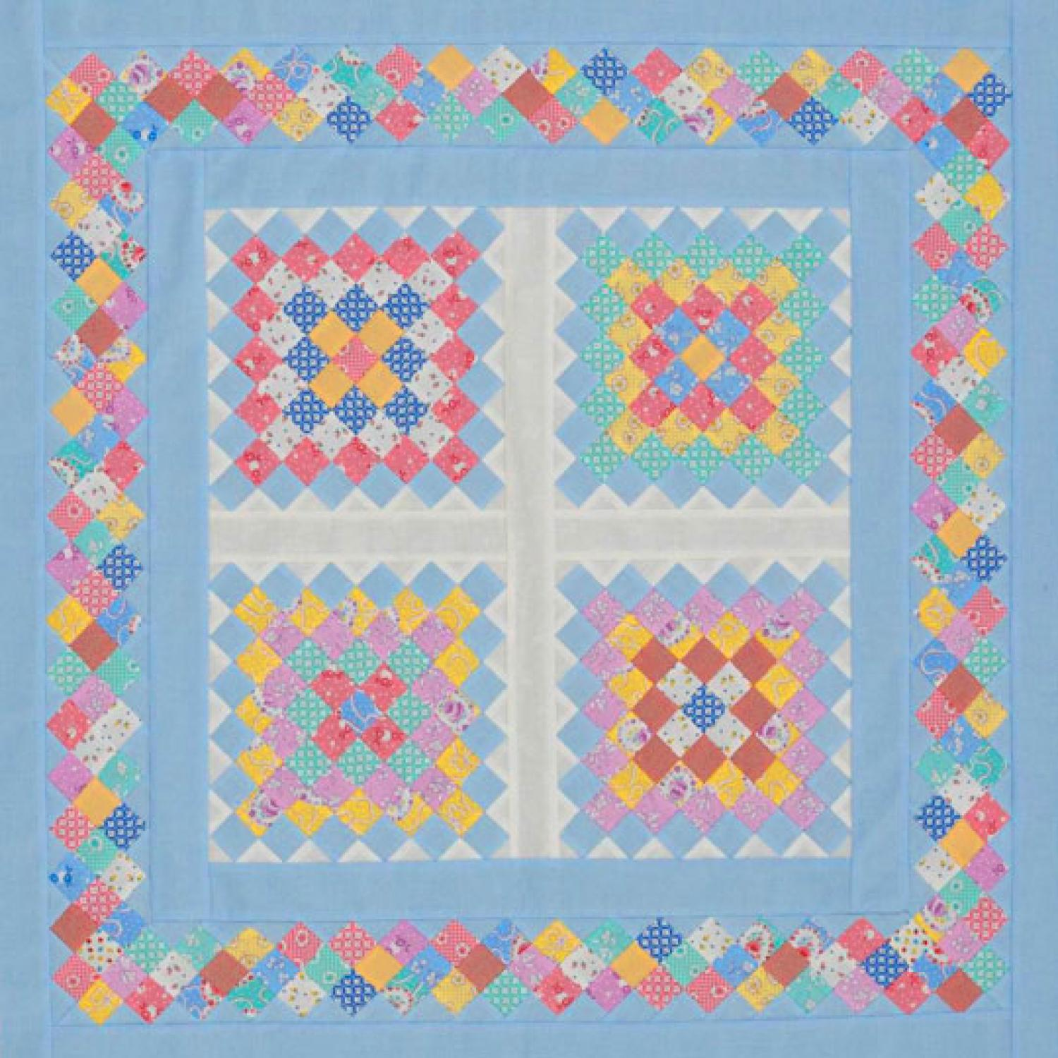 Scrappy Strip-Pieced Squares AllPeopleQuilt.com