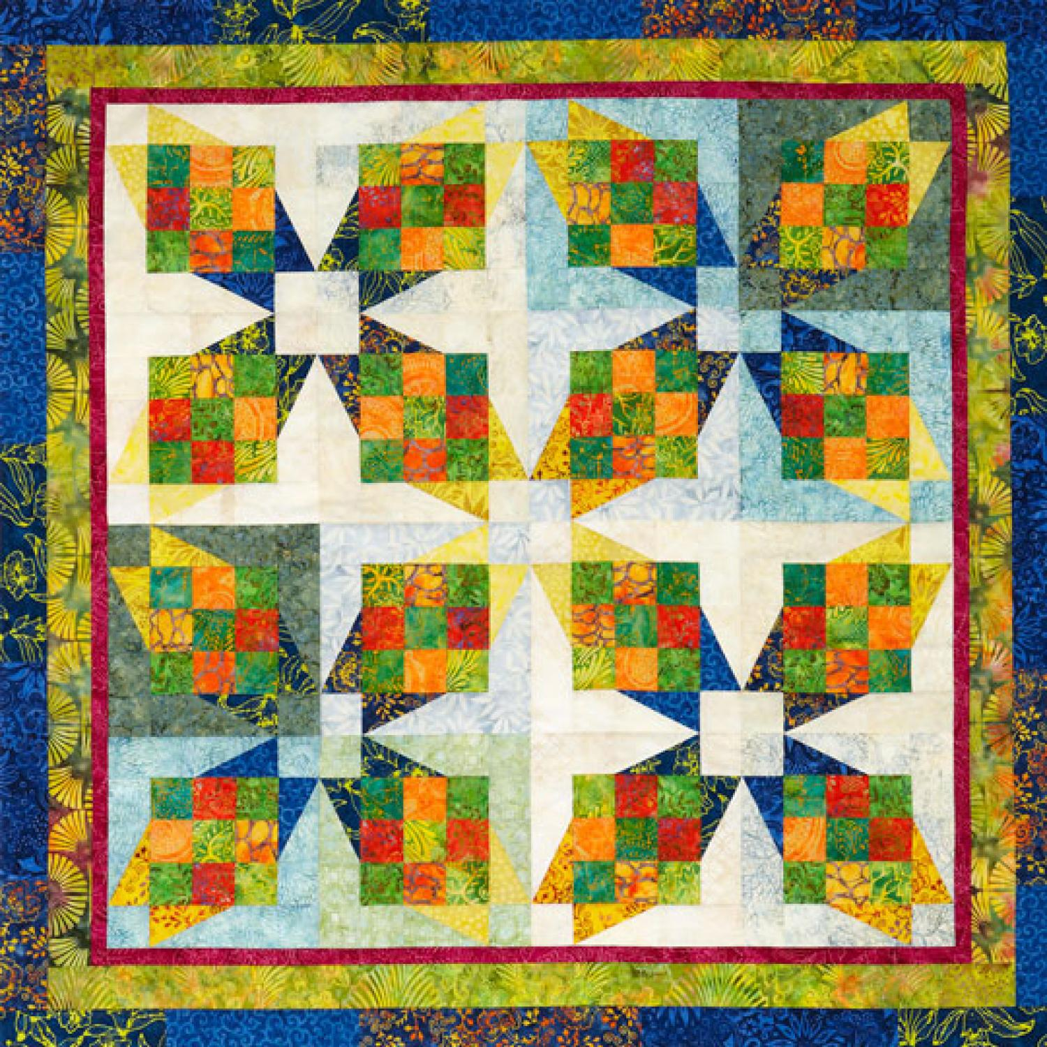 Tropical Crossing Wall Hanging Allpeoplequilt Com