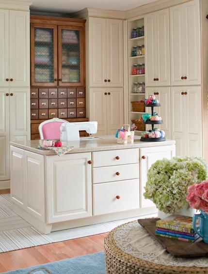 Hidden Storage & Organize Your Sewing Room | AllPeopleQuilt.com
