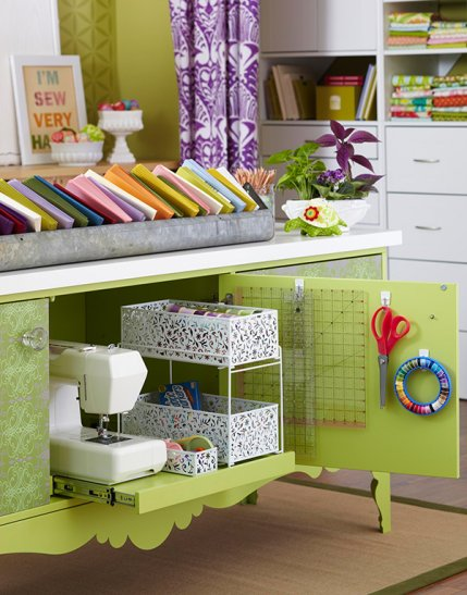 Sewing Room Design Ideas extraordinary sewing room ideas decorating ideas images in spaces eclectic design ideas Pull Out Storage