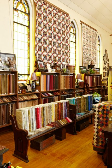 Beautiful Rows Of Fabric