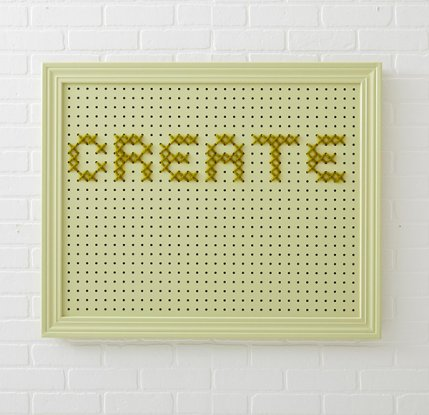 Create a better life allpeoplequiltcom for Large pegboard letters