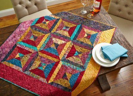 Quilted Round Table Toppers.Free Table Topper Patterns Allpeoplequilt Com