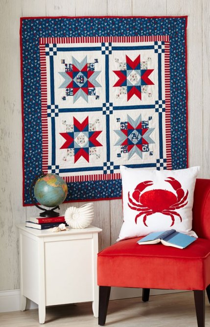 Nautical Quilt Patterns | AllPeopleQuilt.com : nautical star quilt pattern - Adamdwight.com