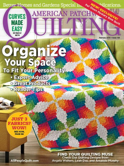 American Patchwork & Quilting February 2016 | AllPeopleQuilt.com : better homes and gardens quilting - Adamdwight.com