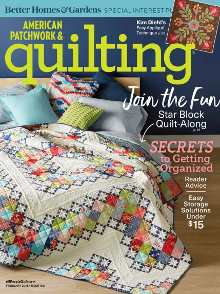 American Patchwork & Quilting February 2018 | AllPeopleQuilt.com : quilting patchwork - Adamdwight.com