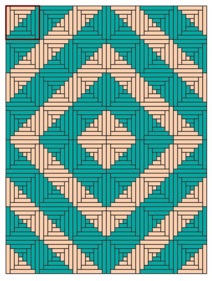 Creative Log Cabin Quilt Layouts