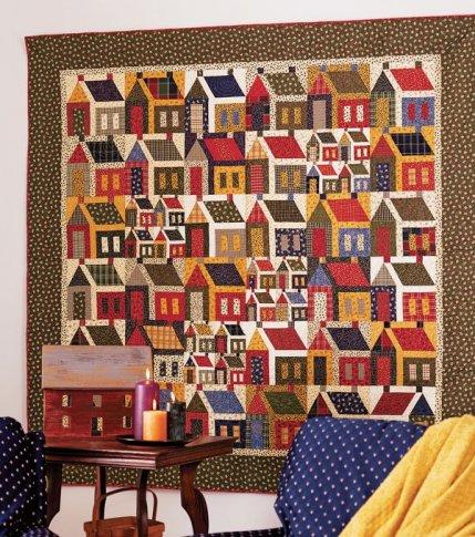 Quilt Block Patterns Of Houses : House Block Quilt Patterns AllPeopleQuilt.com