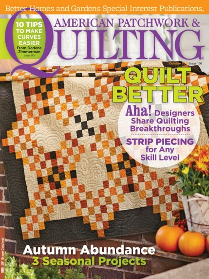 American Patchwork & Quilting October 2015 | AllPeopleQuilt.com : better homes and gardens quilting - Adamdwight.com