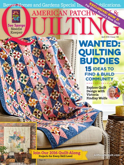 American Patchwork & Quilting April 2016 | AllPeopleQuilt.com : better homes and gardens quilting - Adamdwight.com