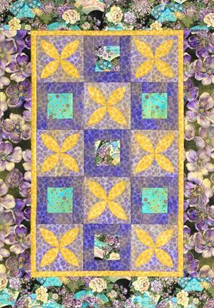Flower Machine-Appliqué Quilts   AllPeopleQuilt.com
