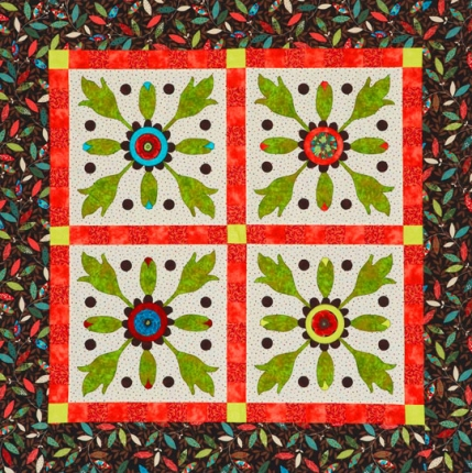 Flower MachineAppliqué Quilts AllPeopleQuilt Custom Applique Patterns Flowers
