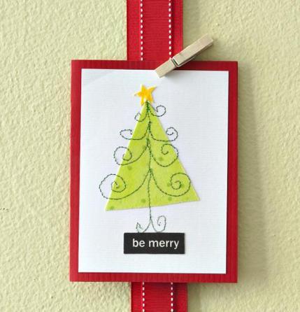 Handmade christmas cards allpeoplequilt handmade christmas cards m4hsunfo