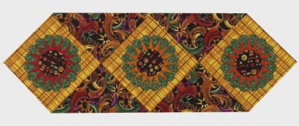 bold sunburst table runner