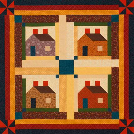 House block quilt patterns for House pattern