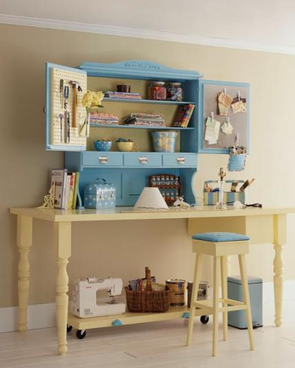 Organize your sewing room - Small space sewing area style ...