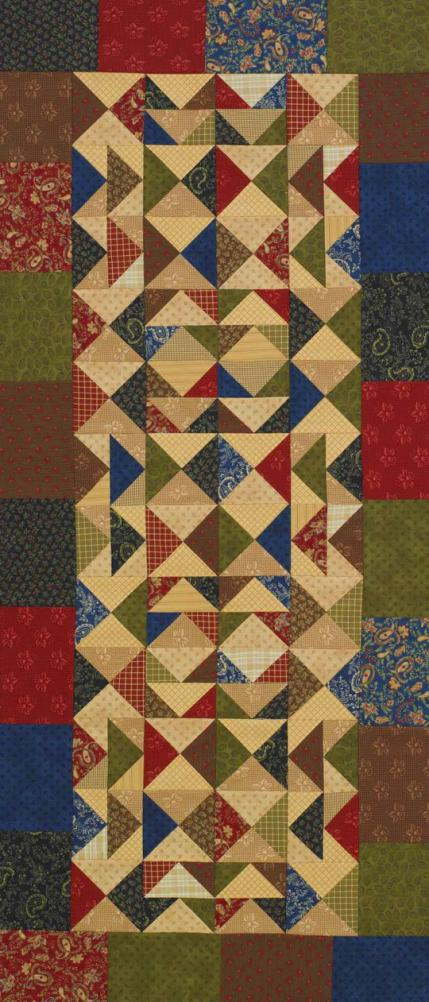 Scrappy table toppers for Table runner quilt design