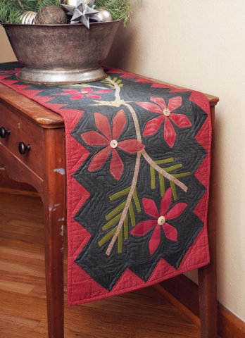 Poinsettia And Pine Allpeoplequilt Com