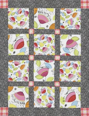 Simple Quilt Patterns Using Squares : Easy Squares Quilt AllPeopleQuilt.com