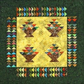 Batik Baskets Wall Hanging Allpeoplequilt Com