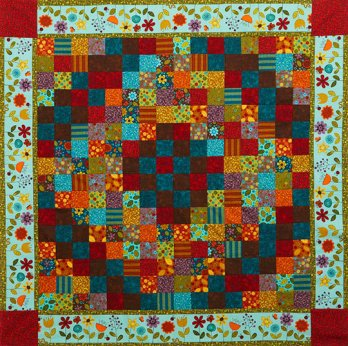 Blooming Borders 16 Patch Throw Allpeoplequilt Com