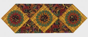Bold Sunburst Table Runner Allpeoplequilt Com