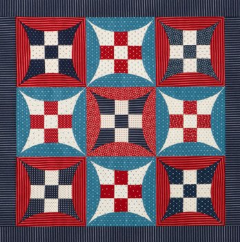 Glorified Nine Patch Wall Hanging Allpeoplequilt Com