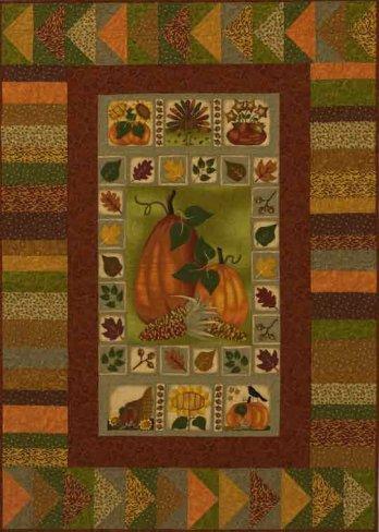 Pumpkin Panel Quilt Allpeoplequilt Com