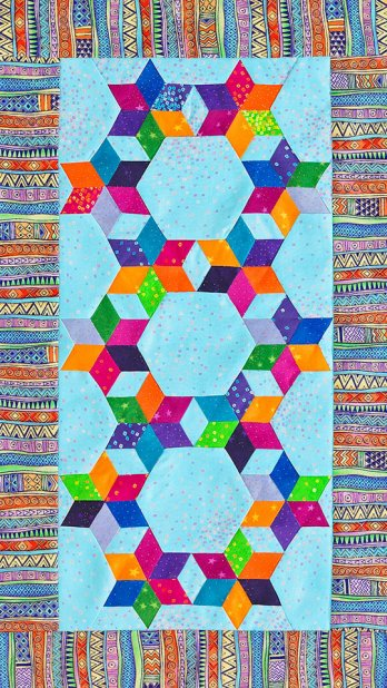 Six Pointed Stars Table Runner Allpeoplequilt Com