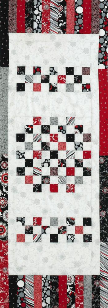 Quilt Patterns Using 6 Strips : Squares and Strips Table Runner AllPeopleQuilt.com