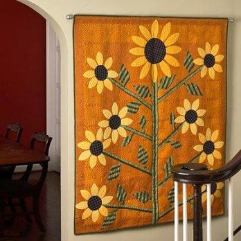 Sunflower Appliqu 233 Wall Hanging Allpeoplequilt Com