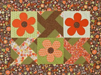 Windmills And Flowers Wall Hanging Allpeoplequilt Com