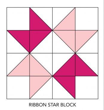 Ribbon Star Quilt Bloc...