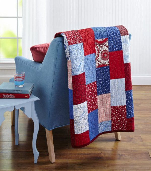 Red, White, and Blue Bricks | AllPeopleQuilt.com : patriotic quilt kits - Adamdwight.com