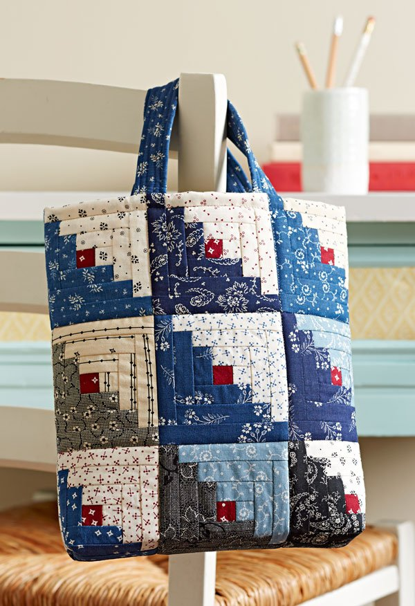 Mini Log Cabin Bag Allpeoplequilt Com