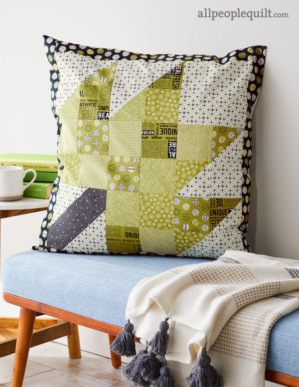 Modern Maples Pillow : Modern Maple Pillow AllPeopleQuilt.com