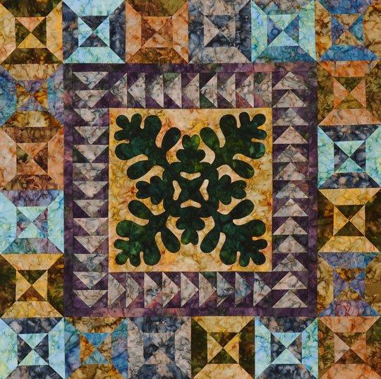 Botanical Batiks Wall Quilt Allpeoplequilt Com
