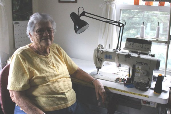90 Year Old Seamstress Continues Work In Booming Business